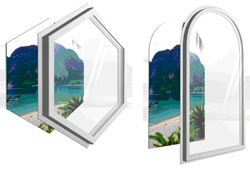 Shaped Fixed Panel Window Soundproofing Styles